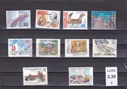 República Dominicana  - Lote  10  Sellos Diferentes  - 5/2242 - República Dominicana