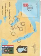 547  FEUILLET  COMMÉMORATION  OPÉRATION DAGUET  POSTES AUX ARMÉES 1990 1991 Frégate Artimon - Dokumente