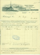 """CLEVE Kleve 1912 Rechnung Besonders Deko """" Gebr.Reintjes Dampfkäserei Edamer Holländer """" - Alimentaire"""