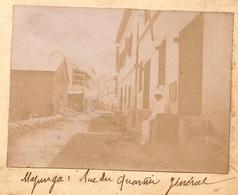 1902 Photo Majunga Madagascar Rue Du Quartier Général - Boats