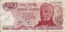 ARGENTINE 100 PESOS ND1971-73 VF P 291 - Argentina