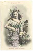 Cpa Fantaisie Bergeret - Langage Des Fleurs - Orchidée - Amour Par Ambition - Mujeres
