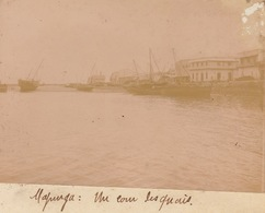 1902 Photo Majunga Madagascar Port Quai - Bateaux