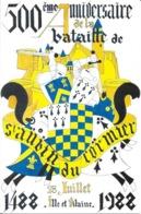 500e Anniversaire De La Bataille De St Saint-Aubin Du Cormier (Ille-et-Vilaine) - 1488 1988 Illustration - Altri Comuni