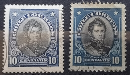 O'HIGGINS - 10 C-TWO PERFORATIONS-CHILE - 1911-1915 - Chile