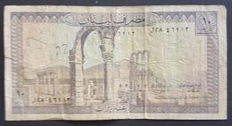 RS - Lebanon 10 Liras Banknote - Libano