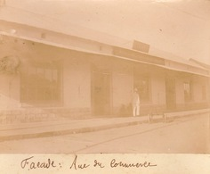 1902 Photo Majunga Madagascar Facade Magasin Garnier Rue Du Commerce - Plaatsen