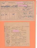 543   LAISSER PASSER  VIN  ROUGE 2 DOCUMENTS GERS  ST CLAR 32 1921   Et 1941  TAXE - Transportation Tickets