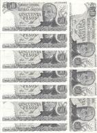 ARGENTINE 50 PESOS ND1976-78 UNC P 301 B ( 10 Billets ) - Argentina
