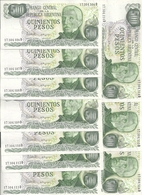 ARGENTINE 500 PESOS ND1977-82 UNC P 303 C ( 10 Billets ) - Argentina