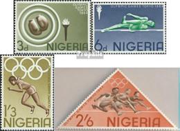 Nigeria 156-159A (kompl.Ausg.) Postfrisch 1964 Olympische Sommerspiele - Nigeria (1961-...)