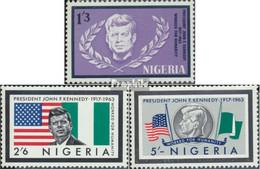 Nigeria 150-152 (kompl.Ausg.) Postfrisch 1964 John F. Kennedy - Nigeria (1961-...)