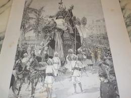 ANCIENNE PUBLICITE CARNAVAL DE NICE 1892 - Publicidad