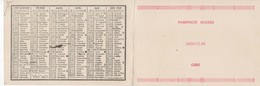 895   Calendrier 1939 Pharmacie ROUEDE Saint CLAR  32 Gers - Calendars