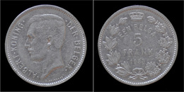 Belgium Albert I 5 Frank (1 Belga) 1933 VL-pos B - 1909-1934: Albert I.