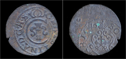 Latvia Christina From Sweden Billon Schilling 1644 - Latvia