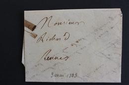 1803 LAC POUR RENNES CALENDRIER REPUBLICAIN Mardi 3 May AN XI (1803).. - 1801-1848: Vorläufer XIX