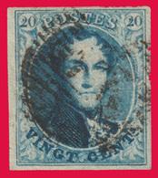 COB N° 7 - Margé Des 4 Côtés - Papier Epais - Oblitération à Barres - 1851-1857 Medallions (6/8)