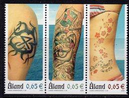 Aland 2006 Tattoos Strip Of 3, MNH (EU) - Aland