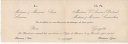 893   Faire Part De Mariage 29 Décembre 1935 Minuit LANNES DUTAUT SAUMABERE  à Fleurance 32 Gers - Mariage