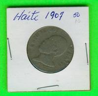 MONNAIES, HAITI - 1907 - 50 CENTIMES - - Haïti