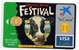 Bank Credit Card Visa Cash Spain DOCTOR MUSIC FESTIVAL ( Cow) - Tarjeta De Credito - Tarjetas De Crédito (caducidad Min 10 Años)