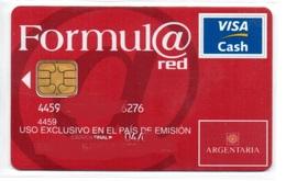 Bank Credit Card Visa Cash Spain FORMULA RED - Tarjeta De Credito - Geldkarten (Ablauf Min. 10 Jahre)