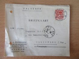 Pays-Bas / Nederland - Briefkaart Haarlem Vers Ollioules Circulée En 1936 - Period 1891-1948 (Wilhelmina)