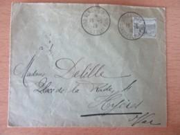 France - Timbre Orphelins De Guerre 15c + 10c YT N°150 Sur Enveloppe - Ob. Versailles, Congrès De La Paix - 1919 - France