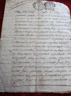 1745 MANUSCRIT DE CASTELNAUDARY CACHETS DE TOULOUSE CONSTITUTION DE RENTE SIGNÉE LURBIN-LOUIS JOLY DE MONCHERY - Manuscritos