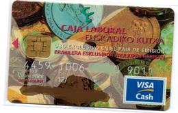 Bank Credit Card Visa Cash Spain PAIS VASCO - Tarjeta De Credito - Tarjetas De Crédito (caducidad Min 10 Años)