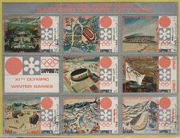 JO72-H/L7 - YEMEN Feuillet Obl. Jeux Olympiques D'Hiver Sapporo 1972 - Jemen