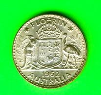 MONNAIES, AUSTRALIA, FLORIN 1962 - ELIZABETH II - - Monnaie Pré-décimale (1910-1965)