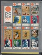 JO72-H/L8 - YEMEN Bloc-feuillet Obl. Jeux Olympiques D'Hiver Sapporo 1972 - Jemen