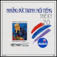 Block No. 102  Vietnam 1993  POLSKA '93, Poznan (Poznan): Paintings. Imperforate - Vietnam