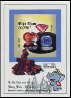 Block No. 104  Vietnam 1993  BANGKOK '93 (II): Precious Stones Imperforate - Vietnam