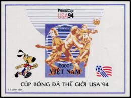 Block No. 106  Vietnam 1994  World Cup, USA (II) Imperforate - Vietnam