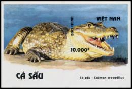 Block No. 107  Vietnam 1994  Crocodiles Imperforate - Vietnam