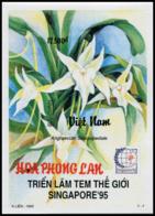 Block No. 112  Vietnam 1995  SINGAPORE '95: Orchids  Imperforate - Vietnam