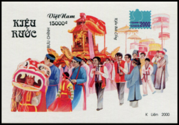 Block No. 124  Vietnam 2000 International Stamp Exhibition BANGKOK  Imperforate - Vietnam
