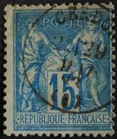 -Sage N°90 Type Ll.(CAD) O  CERDON ( 01 )  1883. - 1876-1898 Sage (Type II)
