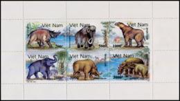 No. 2360-2365  Vietnam 1991 Prehistoric Animals - Vietnam