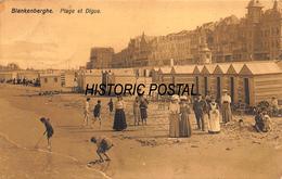 BLANKENBERGHE FLANDERS BELGIUM~PLAGE Et DIGUE~1910 SEPIA PHOTO POSTCARD 46399 - Blankenberge