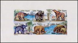 No. 2360-2365  Vietnam 1991 Prehistoric Animals Imperforate - Vietnam