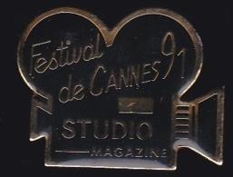 65236-Pin's-festival De Cannes.1991.studio Magazine.cinéma. - Cinéma