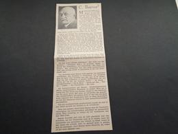 """Origineel Knipsel ( 4133 ) Uit Tijdschrift """" Ons Volk """"  1932 :  C. Buysse  Sint - Martens - Latem Bij Gent - Vieux Papiers"""