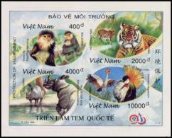 No. 2813-2816  Vietnam 1996 TAIPEI '96: Environmental Protection Imperforate - Vietnam