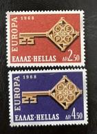 GRECE   Europa 1968    N° Y&T  951 Et 952  ** - Ungebraucht