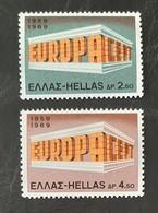 GRECE   Europa 1969    N° Y&T  982 Et 983  ** - Ungebraucht