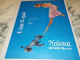 ANCIENNE PUBLICITE LES BAS  ELASTIQUE DE HELANCA 1956 - Vintage Clothes & Linen